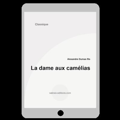Couverture ebook la dame aux camélias
