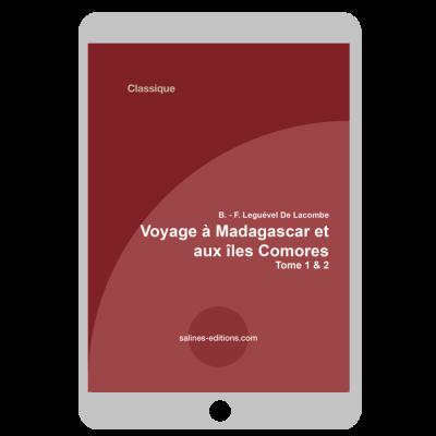 Couverture ebook Voyage à Madagascar et aux îles Comores