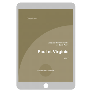 Couverture ebook Paul et Virginie