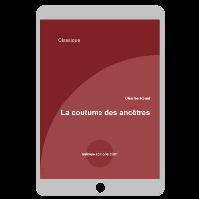 Couverture ebook La coutume de ancêtres