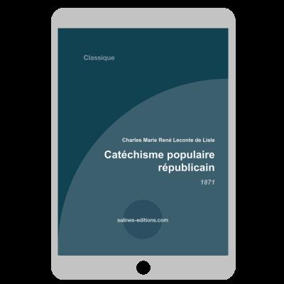 Couverture ebook Catéchisme populaire républicain