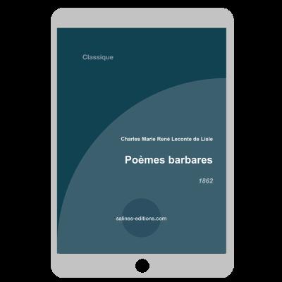 Couverture ebook Poèmes barbares