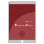 Couverture ebook E.Parny -Chansons Madecasses
