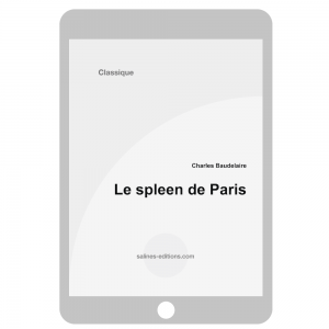 couv. ebook Le spleen de Paris- Charles Baudelaire