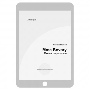 couv. ebook Mme Bovary - Gustave Flaubert