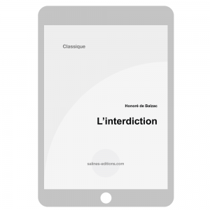 couv. ebook L'interdiction - Honoré de Balzac