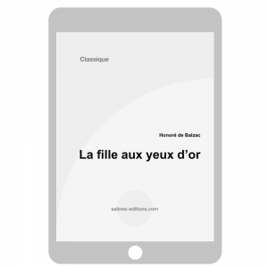 couv. ebook La fille aux yeux d'or - Honoré de Balzac