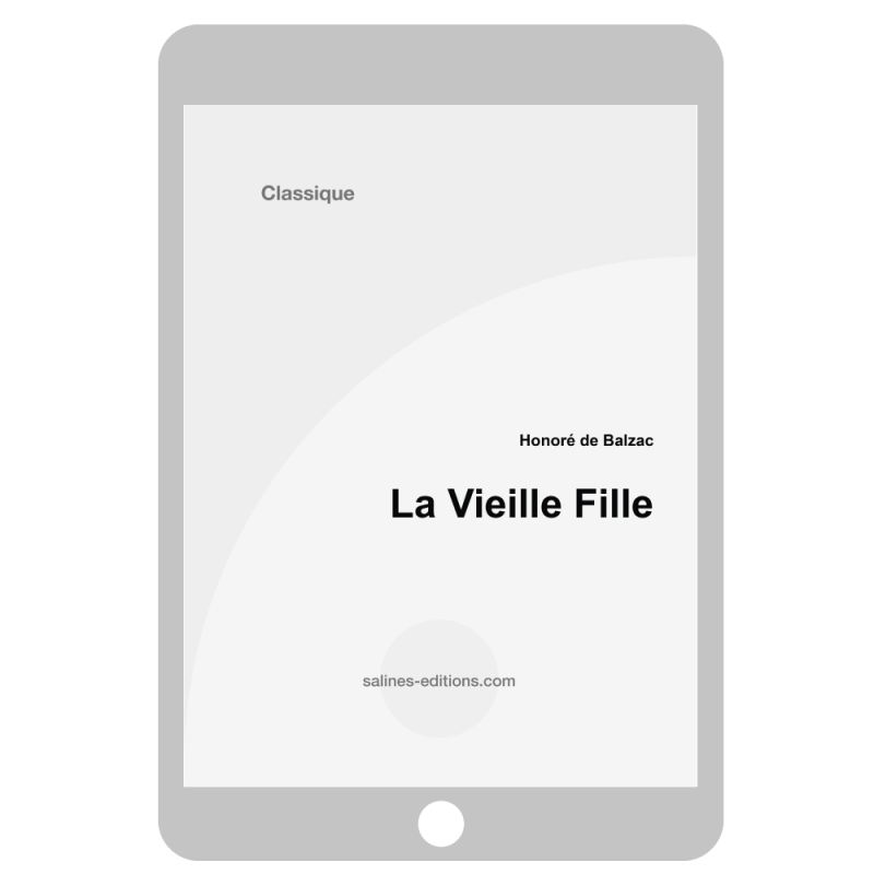 couv. ebook La vieille fille - Honoré de Balzac