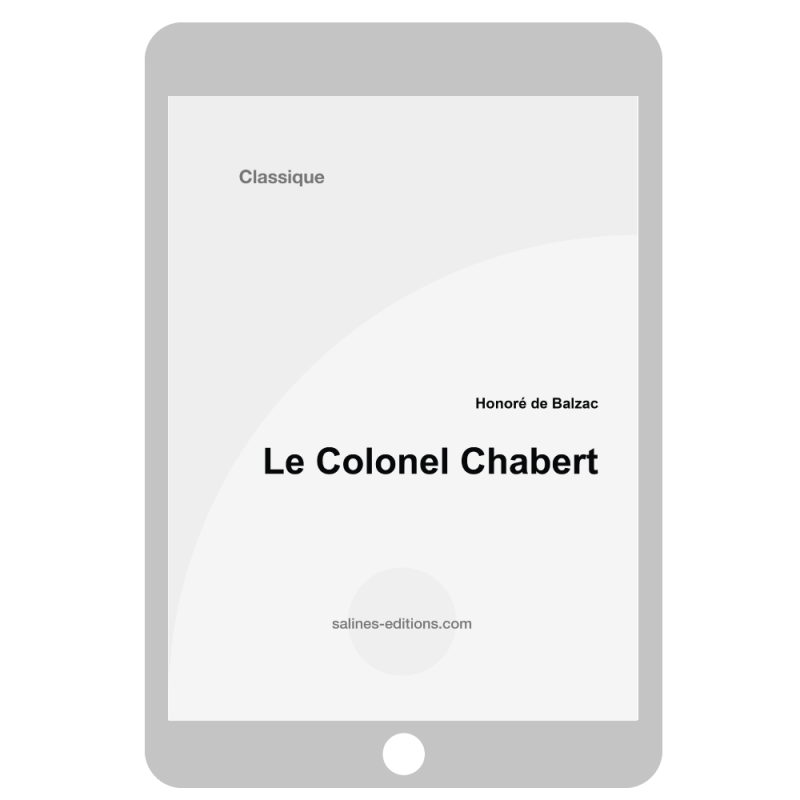 couv. ebook Le Colonel Chabert - Honoré de Balzac
