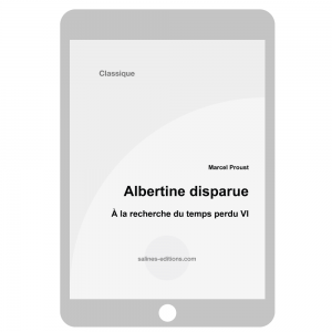 couv. ebook Albertine disparue - Marcel Proust
