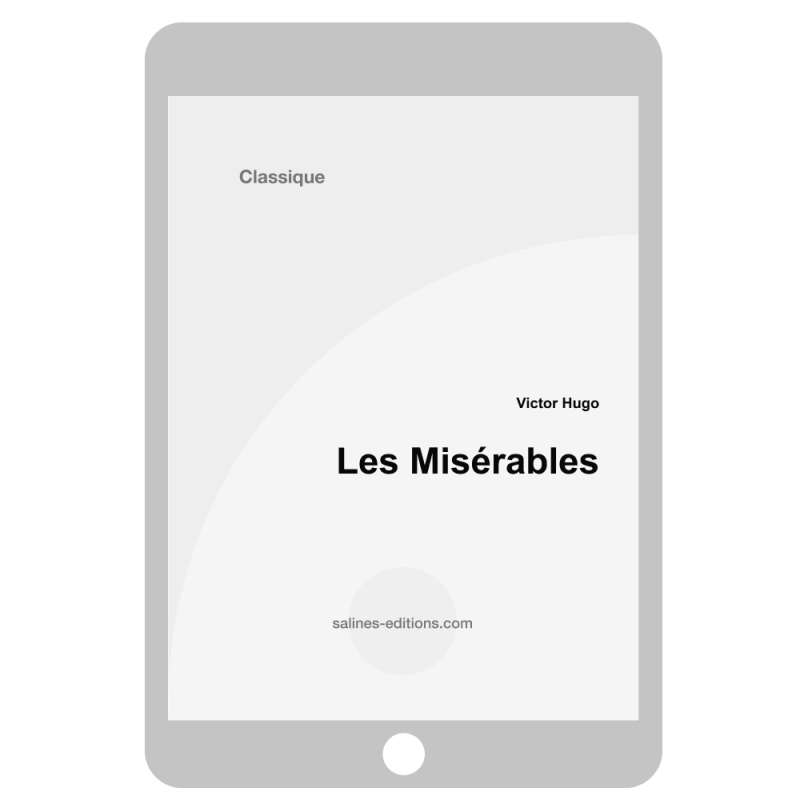 couv. ebook Les misérables - Victor Hugo