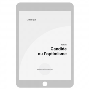 couv. ebook Candide ou l'optimiste - Voltaire